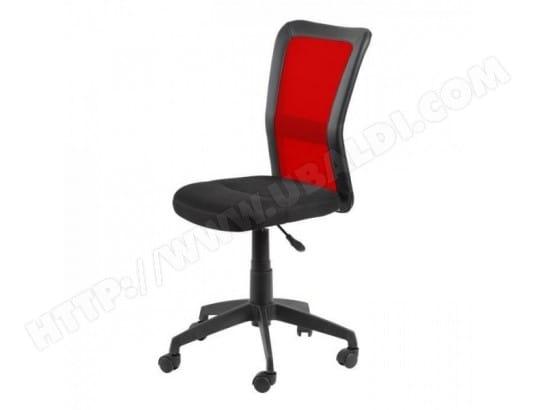 Gill chaise de bureau tissu noir et rouge style contemporain