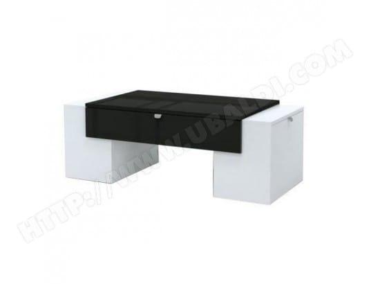 Brillant Contemporain Table L Blanc Et Lucky Basse Noir Style Mat 2eE9DYWHIb