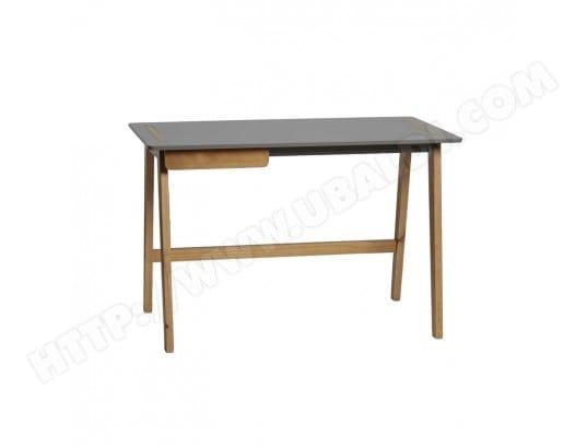 Bureau tiroir gris bois chaca l l h