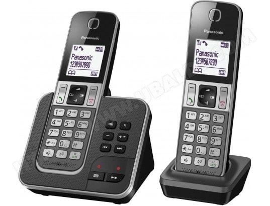 Téléphone sans fil PANASONIC KX-TGD322FRG Pas Cher   UBALDI.com dea1495a72da