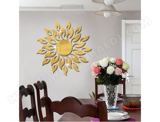 Sticker Mural or Tournesol Miroir Wall Chambre Salon ...