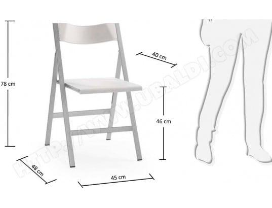 chaise lf lot de 2 chaises pliables fargo blanche - Chaises Pliables