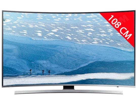 samsung ue43ku6640 tv led 4k incurv 108 cm livraison gratuite. Black Bedroom Furniture Sets. Home Design Ideas