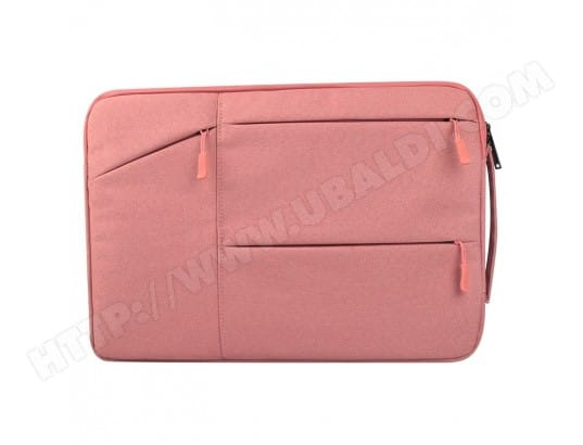 Sacoche pour ordinateur portable rose 12 pouces et ci-dessous Macbook, Samsung, Lenovo, Sony, DELL Alienware, CHUWI, ASUS, HP Universel poches multiples wearable Oxford chiffon doux Business Tablet Bag, WEWOO MA-80CA52_SACO-GQF9Y