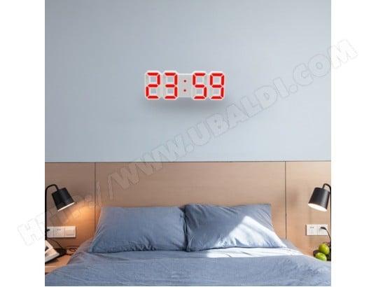 Horloge murale rouge pour la maison, cuisine, bureau, DC 5V ...