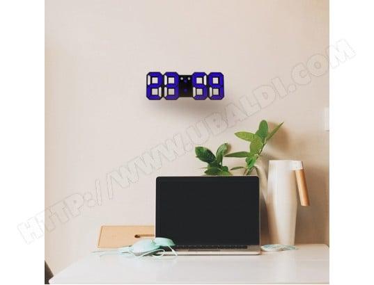 Horloge murale bleu pour la maison cuisine bureau dc v réveil