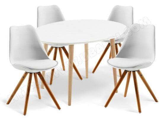 Ensemble Table Et Chaises Lf Table Oakland Ovale 4 Chaises Lars
