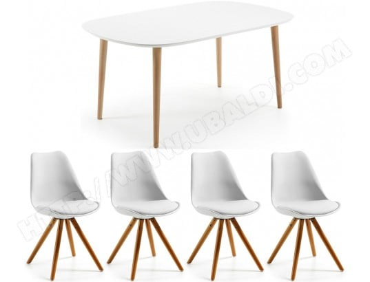Ensemble Table Et Chaises Lf Table Oakland Extensible 4 Chaises