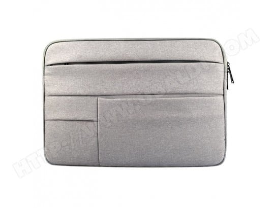 Sacoche pour ordinateur portable gris 13,3 pouces et ci-dessous Macbook, Samsung, Lenovo, Sony, DELL Alienware, CHUWI, ASUS, HP Universel poches multiples Oxford chiffon doux Tablet Bag, WEWOO MA-80CA52_SACO-74J59