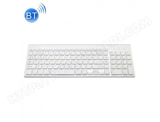 : clavier sans fil blanc