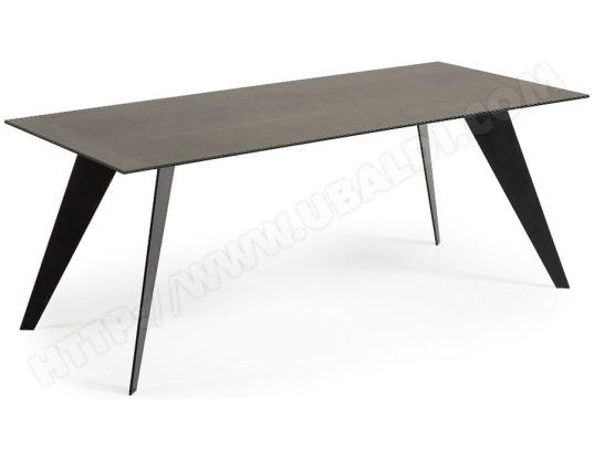 Table De Salle A Manger Lf Nack 200 X 100 Plateau Ceramique Brun