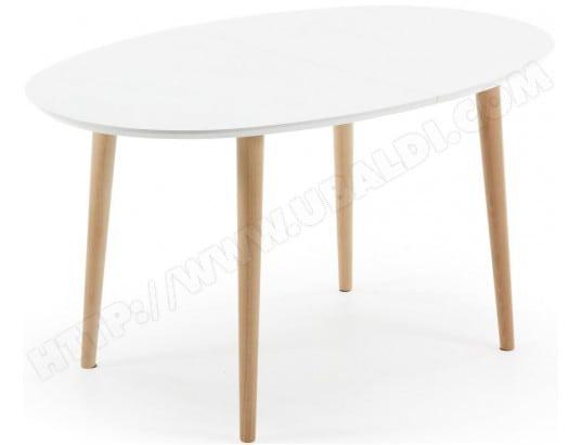 Table de salle à manger LF Oakland ovale 140/220x90cm blanc ...