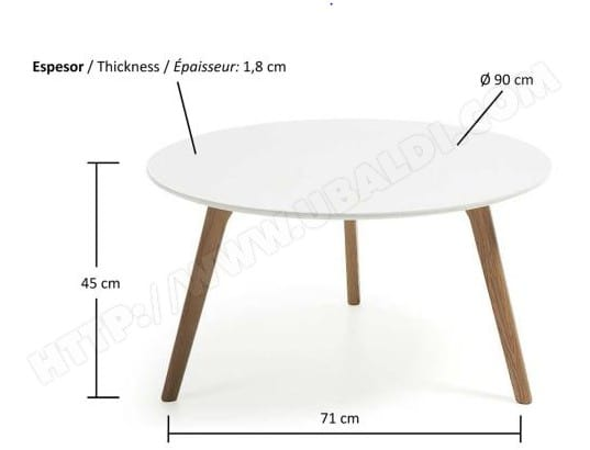 Table Basse Lf Brick Table Basse Chene Et Blanc Pas Cher Ubaldicom