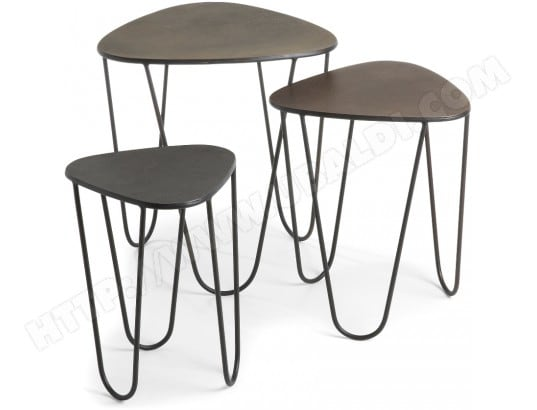 Tables gigognes LF Lot de 3 tables gigognes Vertig A