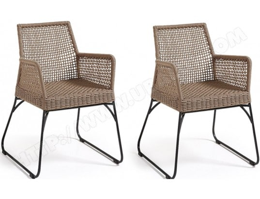 Chaise LF Lot de 2 chaises Novak beige