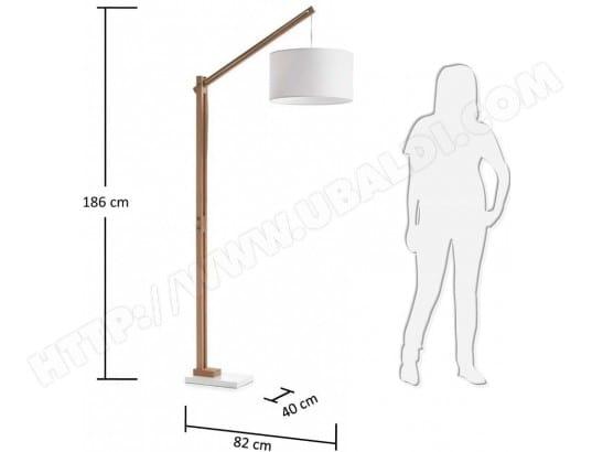 Lampadaire salon LF Izar lampadaire blanc Pas Cher | UBALDI.com