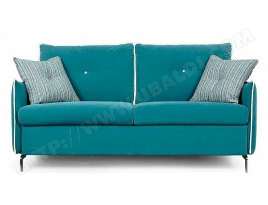 canap u00e9 lit divani form vento 3pl turquoise matelas 140