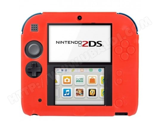 Rouge pour Nintendo 2DS Coque en Silicone Ultra Fin Pure Color WEWOO MA-80CA342ROUG-RTLRV