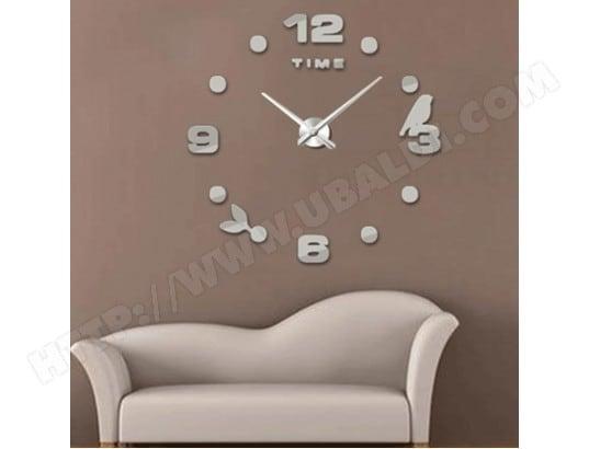 Horloges diy argent chambre maison bureau décoration frameless
