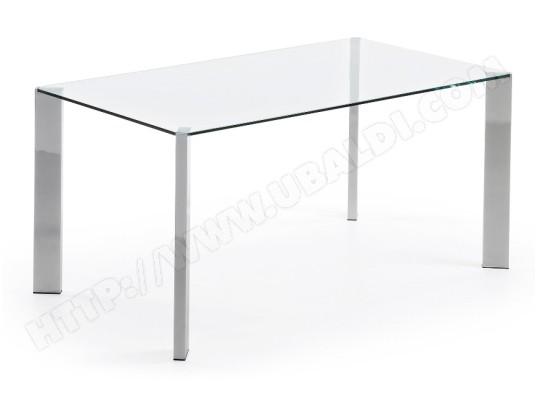 Table De Salle A Manger Lf Corner 160 X 90 Chrome Et Verre