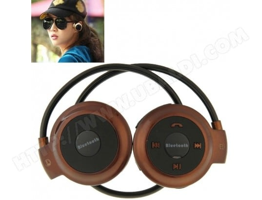 WEWOO pCasque Bluetooth pour iPhone Mini 503 Sport Stéréo Musique casque support carte TF l'pour iPhone Galaxy Huawei Xiaomi LG HTC et Smartphone