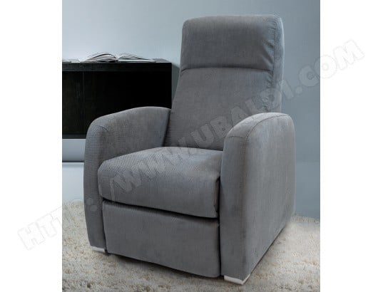 Fauteuil Relaxation UB DESIGN Orchidée  2 relax tissu anthracite