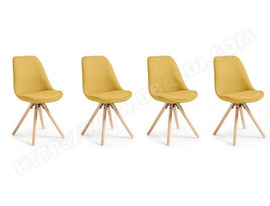 Chaise LF Lot De 4 Chaises Lars Moutarde