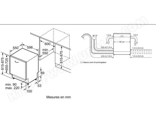 Bosch Smv46ax04e Lave Vaisselle Tout Integrable 60 Cm Bosch