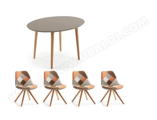 Ensemble table et chaises LF Table Oakland 140cm + 4 chaises Lars ...