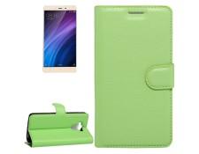 WEWOO MA-80CA500HOUS-21FIF Housse Étui vert pour Xiaomi Redmi 4 Litchi  Texture en cuir flip horizontal avec support et ampère Slots de cartes  Portefeuille b6d57928b3f