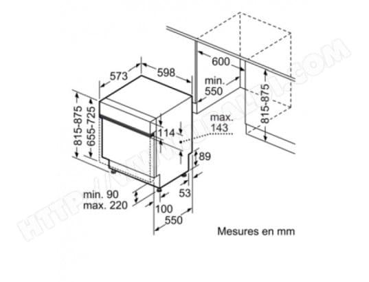 Bosch Smi46ib03e Lave Vaisselle Integrable 60 Cm Bosch Livraison