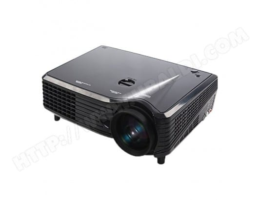 Vidéoprojecteur LED noir LM 800x480 VGA Multimédia Vidéo Projecteur, Support VGA / HDMI / USB / TV Interfaces, Distance de Projection: 1-5m WEWOO MA-80CA1__VIDE-OVB6I
