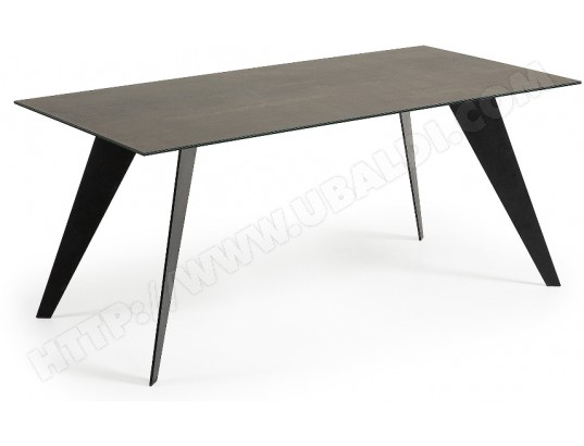 Table de salle manger lf nack 180x100 plateau c ramique - Table salle a manger plateau ceramique ...