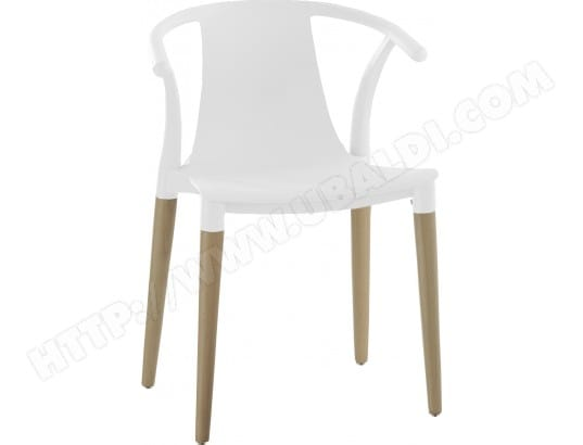 Chaise DOMINO chaise Creed blanche Pas Cher |