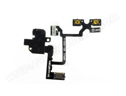 Nappe Headphone Noire iPhone 4 THIRD PARTY MA-58CA404NAPP-GE33Z