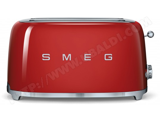 Grille pain SMEG TSF02RDEU 4 tranches Rouge