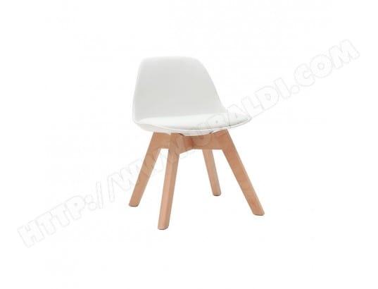 Chaise Design Blanche Avec Pieds Bois BABY PAULINE MILIBOO MA 78CA456CHAI 2IARZ