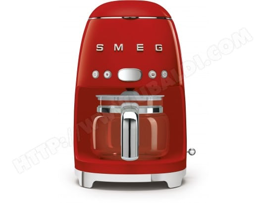 smeg dcf01rdeu rouge pas cher cafeti re livraison gratuite. Black Bedroom Furniture Sets. Home Design Ideas