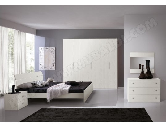 Chambre adulte complète GINGER blanche C30150B MENNZA MA-69CA85_CHAM-UQ8PS