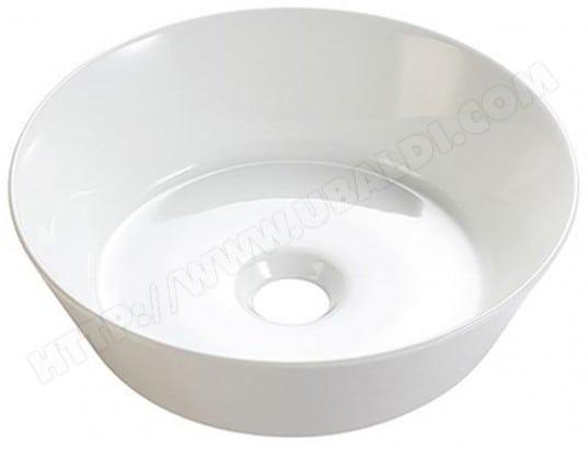vasque ronde poser en c ramique blanche ohio 42cm bath collection ma 82ca543vasq ge17c pas. Black Bedroom Furniture Sets. Home Design Ideas
