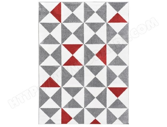 tapis de salon scandinave forsa rouge 160x230cm koton ma 80ca183tapi 45ei2 pas cher. Black Bedroom Furniture Sets. Home Design Ideas