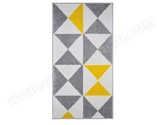 tapis de salon scandinave forsa jaune 60x110cm koton ma. Black Bedroom Furniture Sets. Home Design Ideas