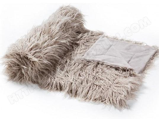 plaid lf brock plaid gris 120x170cm pas cher. Black Bedroom Furniture Sets. Home Design Ideas
