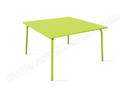 Table de jardin carrée en métal, Palavas NOMARQUE MA-78CA281TABL ...