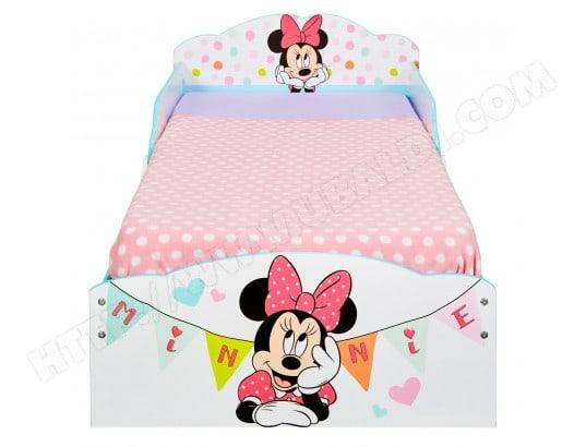 Pack Complet Premium Lit Minnie Mouse Tiroirs Lit Matelas Parure
