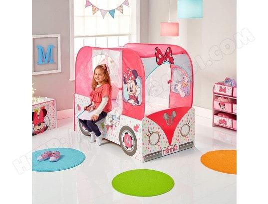 Lit Enfant Camping Car De Minnie Mouse Disney Avec Matelas Bebe