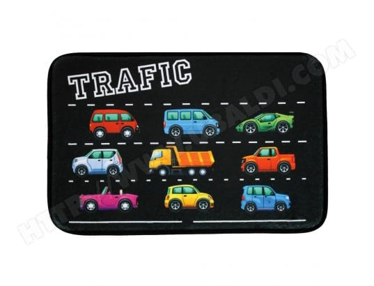PROMOBO   Tapis Déco Enfant Voiture Traffic Descente De Lit Velours Chambre  45x75cm MA 80CA92_TAPI NKYXA