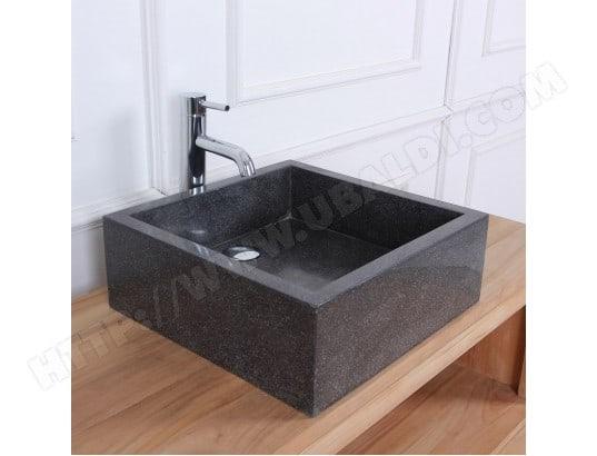 vasque rectangulaire terrazzo noir bois dessus bois dessous ma 69ca543vasq vmjca pas cher. Black Bedroom Furniture Sets. Home Design Ideas