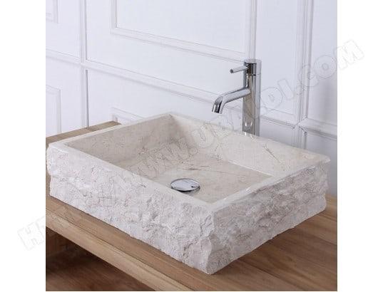 vasque rectangulaire en pierre de marbre blanc bois dessus bois dessous ma 69ca543vasq oqwbz pas. Black Bedroom Furniture Sets. Home Design Ideas