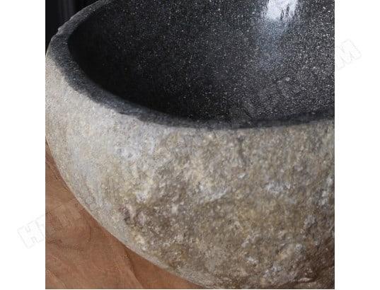 Vasque en pierre de rivière naturelle 30 BOIS DESSUS BOIS DESSOUS  MA-69CA543VASQ-OAEQ9 d6de77a4e70d